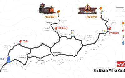 Badrinath – Kedarnath Road Map