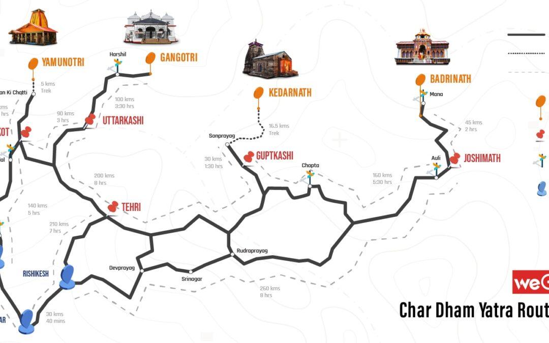 Char dham yatra road map