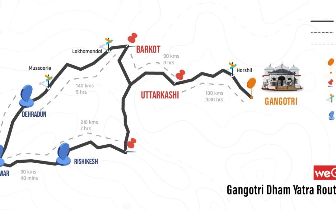 Rishikesh to Gangotri Route Map