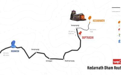 Haridwar to Kedarnath Route Map