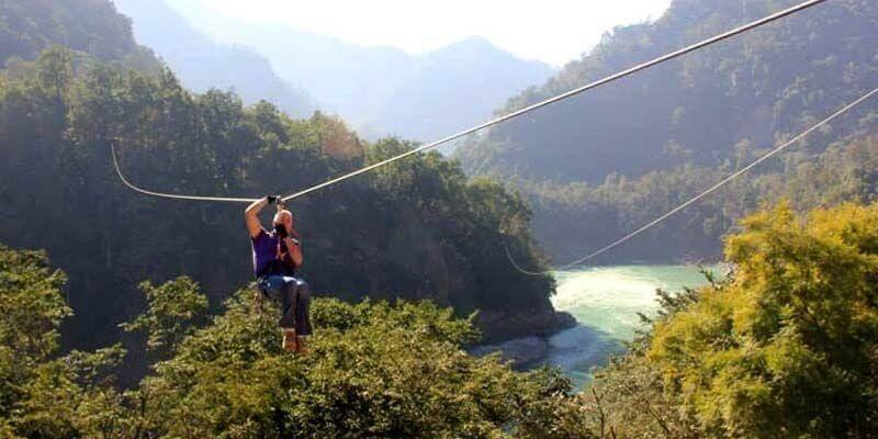 Zip lining Adventure activities in Rishikesh